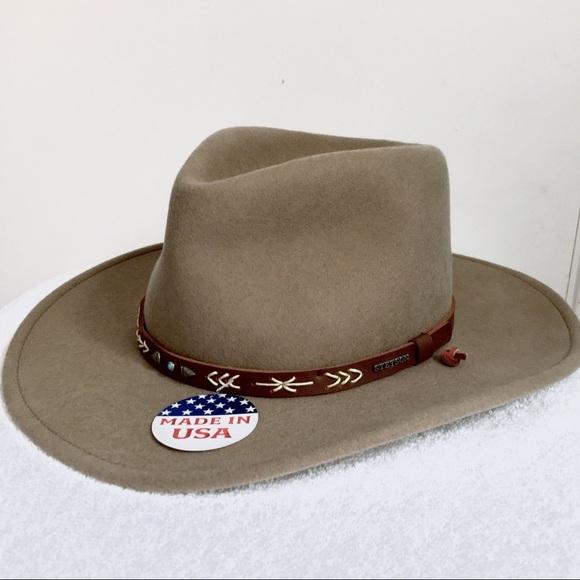 feee94fa78099 Stetson Santa Fe crushable wool hat